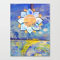 Happy Lotus Canvas Print