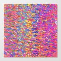 Color Cascade Canvas Print