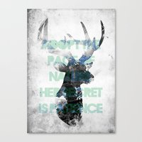 Adopt The Pace Of Nature… Canvas Print