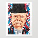 Portrait of Sir Winston Churchill Art Print
