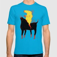 Yellow Rider Mens Fitted Tee Teal SMALL