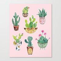 Cactus Pots Canvas Print