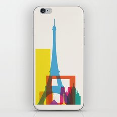 Shapes of Paris. Accurate to scale. iPhone & iPod Skin