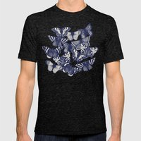 butterfly blue Mens Fitted Tee Tri-Black SMALL