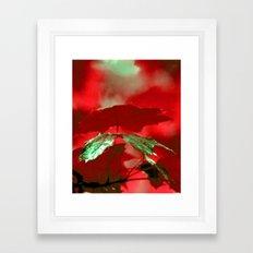 Emerald Leaf Framed Art Print