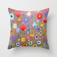 Flowers-Abstracts  Throw Pillow