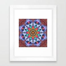 Graffiti Mandala Framed Art Print