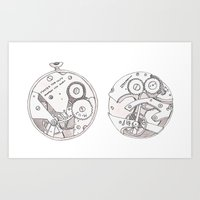 Pocket Watch Art Print