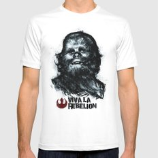 CHE-wbacca White SMALL Mens Fitted Tee