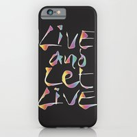 iPhone & iPod Case featuring Live and let Live by Angelo Cerantola