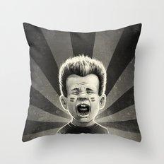 Noise Black Throw Pillow