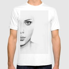 Barely Scarlett  SMALL Mens Fitted Tee White