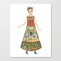 Frida Khalo Watercolor I… Canvas Print
