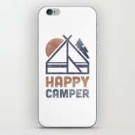 iPhone & iPod Skin featuring Happy Camper by Zeke Tucker