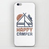 iPhone & iPod Skin featuring Happy Camper by Zeke Tucker