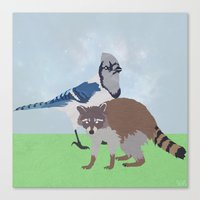 Mordecai and Rigby Canvas Print