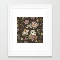 Botanic Wars Framed Art Print