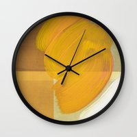 orange one Wall Clock