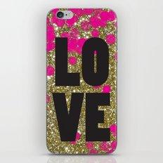 Love in Glitter iPhone & iPod Skin