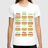 Hot Dogs! Re-do Womens Fitted Tee White SMALL