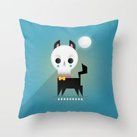 9 Lives Throw Pillow