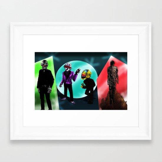 """Random Access Memories"" [Chroma Version] by the CoS Art Dept Framed Art Print"