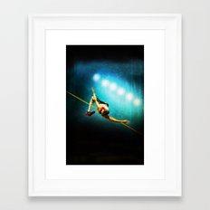 Olympic game jump Framed Art Print