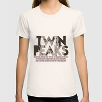 Twin Peaks Poster Womens Fitted Tee Natural SMALL
