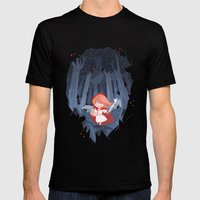 Little Red Fighting Hood Mens Fitted Tee Black SMALL