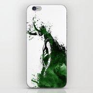 iPhone & iPod Skin featuring Loki Watercolor by Maude Serex