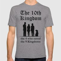 The 10th Kingdom: The 4 Who Saved the 9 Kingdoms Mens Fitted Tee Athletic Grey SMALL