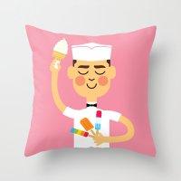 Throw Pillow featuring Taste of Summer by Mouki K. Butt