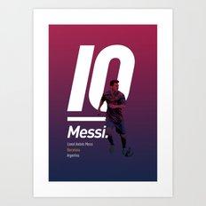 Messi Barcelona Art Print