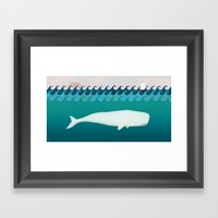 The White Whale Framed Art Print