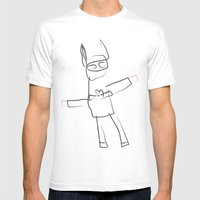 BAT MAN! Mens Fitted Tee White SMALL