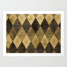 Wooden big diamond Art Print