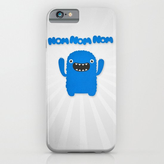 Funny & Cute Om nom nom nom - Monster iPhone & iPod Case