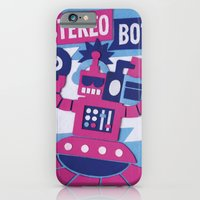 iPhone & iPod Case featuring Stereo Bot by Jacopo Rosati