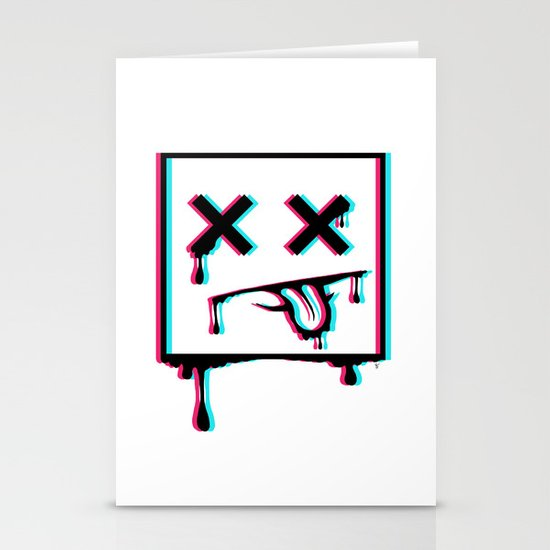 Dead Pixel CMK Stationery Card