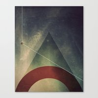 triangle half circle Canvas Print