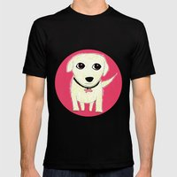 Bichon Bolognese Dog Mens Fitted Tee Black SMALL