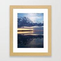 Blue Sunset Reflections - Study # 25 Framed Art Print