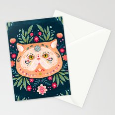 Candied Sugar Skull Kitty Stationery Cards