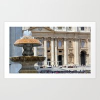 The day the Pope spoke Art Print