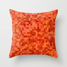 Orange and red mosaic Throw Pillow