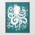 Royal Octopus Canvas Print
