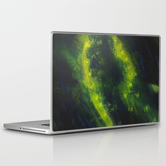 Green Galaxy Laptop & iPad Skin