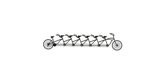 Bike for the Whole Crew Art Print