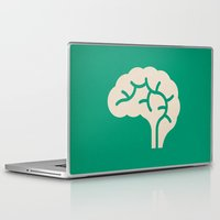 brain Laptop & iPad Skins featuring Brain by Blank & Vøid