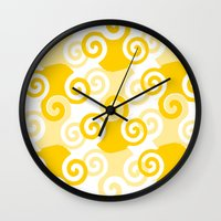 Swirled Wall Clock